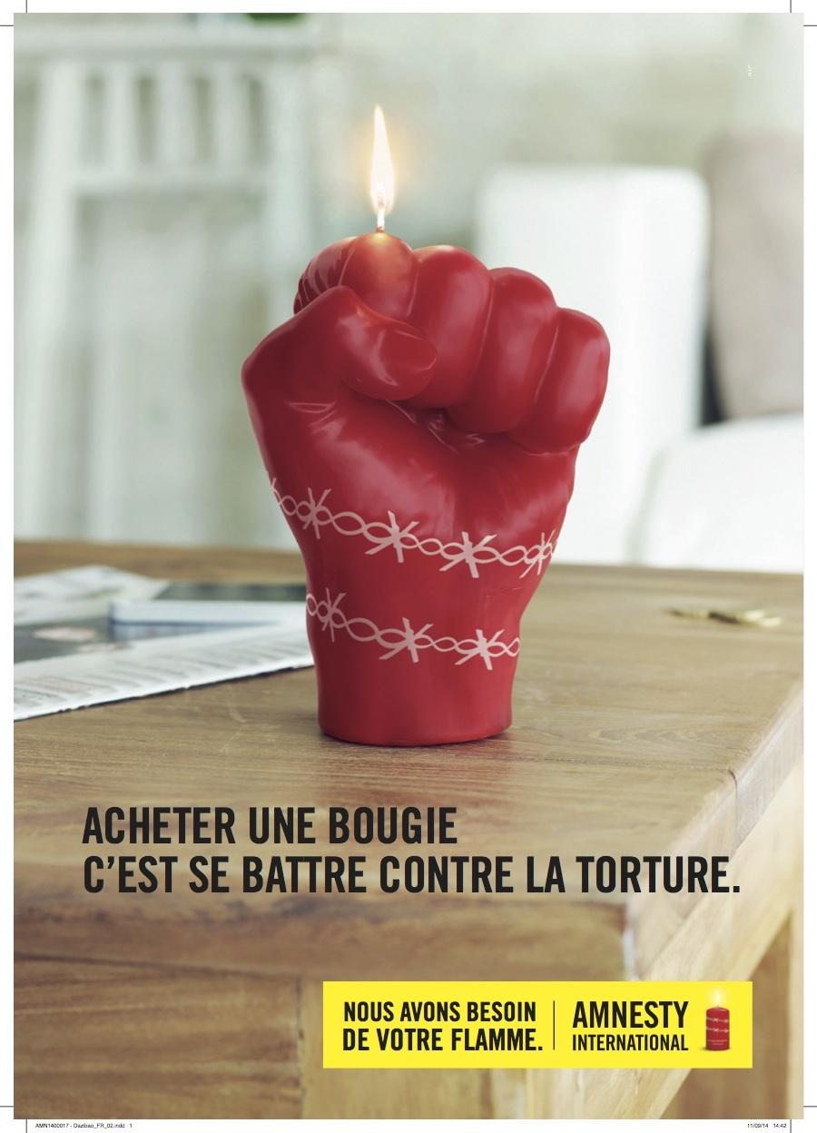 Campagne bougies 2014 d amnesty international acheter une bougie c est se battre contre la - Acheter cire de bougie ...