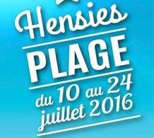 Hensies plage – du 10 au 24 juillet 2016