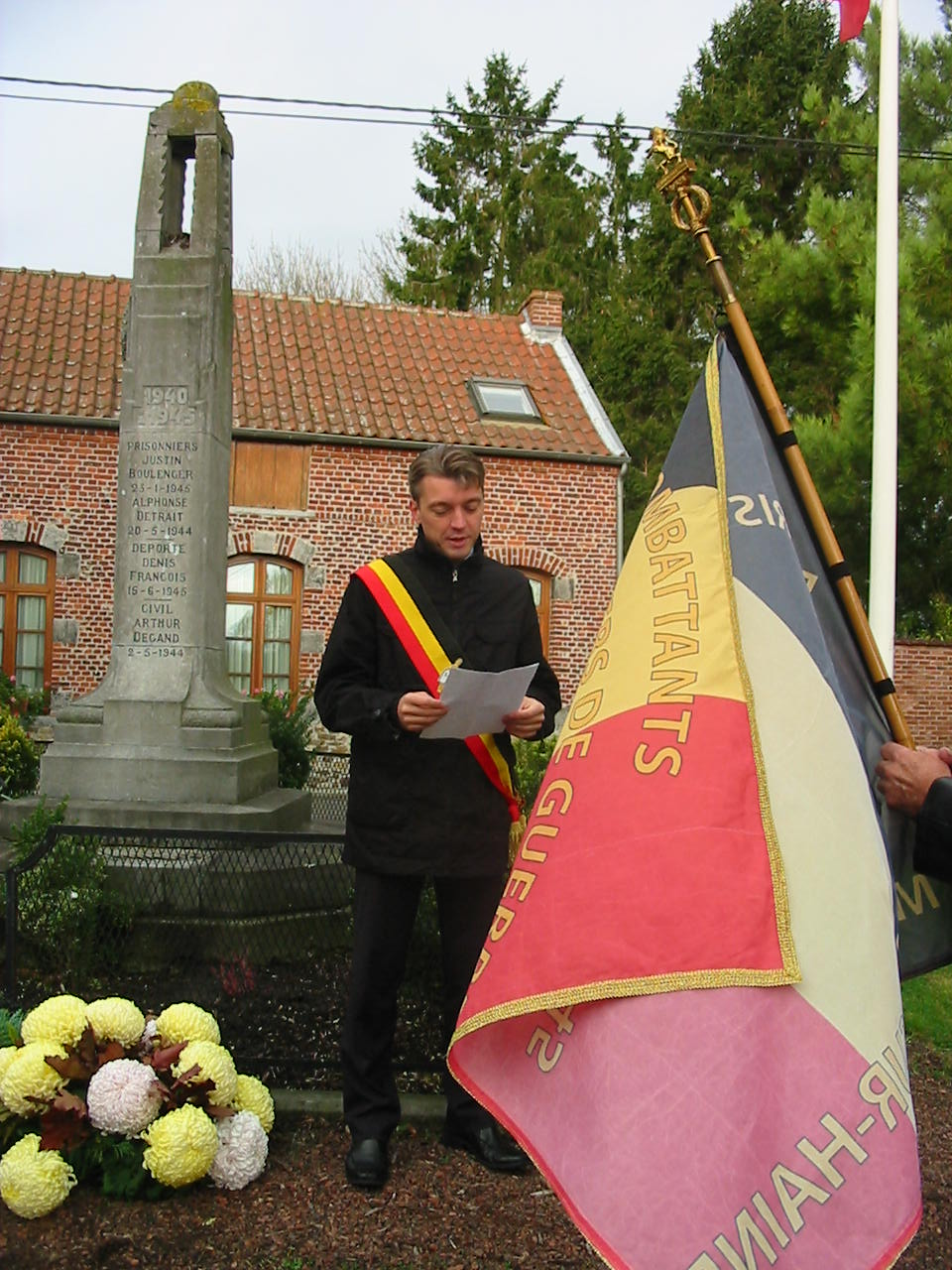 Discours prononcé par Eric THIEBAUT, Bourgmestre, lors des commémorations du 11 novembre